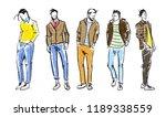 fashion man. fashion men... | Shutterstock .eps vector #1189338559