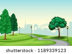 a beautiful urban park scene... | Shutterstock .eps vector #1189339123