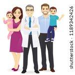 male family doctor vector... | Shutterstock .eps vector #1189342426