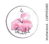 vector illustration. pink... | Shutterstock .eps vector #1189352683