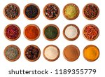 spices on white background | Shutterstock . vector #1189355779