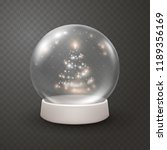 snow globe or christmas ball... | Shutterstock .eps vector #1189356169