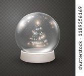 snow globe or christmas ball... | Shutterstock .eps vector #1189356169