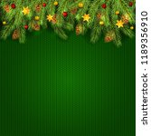 decorations with christmas... | Shutterstock . vector #1189356910