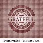 grateful red geometric badge.... | Shutterstock .eps vector #1189357426