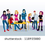 a group of young adolescent... | Shutterstock .eps vector #118935880