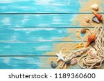sea rope with many different... | Shutterstock . vector #1189360600