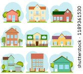 houses  a set of houses with... | Shutterstock .eps vector #1189361530