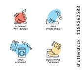 vector sneaker cleaning logo... | Shutterstock .eps vector #1189362583
