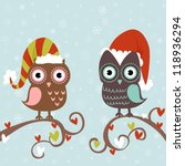 Cute Winter Christmas Card Of...