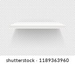 empty book shelf isolated on... | Shutterstock .eps vector #1189363960