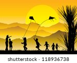 Children Flying Kites...