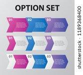 business data visualization ... | Shutterstock .eps vector #1189368400