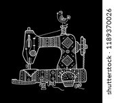 vector illustration of sewing... | Shutterstock .eps vector #1189370026