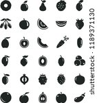 solid black flat icon set... | Shutterstock .eps vector #1189371130