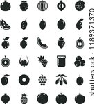 solid black flat icon set jam... | Shutterstock .eps vector #1189371370