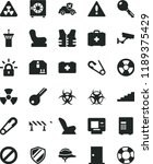 solid black flat icon set... | Shutterstock .eps vector #1189375429
