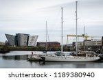 Small photo of Belfast, Northern Ireland -November 18, 2017: Titanic Belfast is a visitor center in Belfast, that tells the story of the ill-fated Titanic, which hit an iceberg and sank during her maiden voyage.