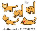cartoon cats  flat style  vector   Shutterstock .eps vector #1189384219