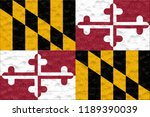 flag of the maryland made of... | Shutterstock . vector #1189390039