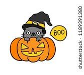 cute cartoon halloween vector. | Shutterstock .eps vector #1189391380
