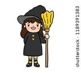 cute cartoon halloween vector. | Shutterstock .eps vector #1189391383