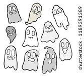 cute cartoon halloween vector. | Shutterstock .eps vector #1189391389