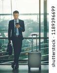 an asian businessman is using a ...   Shutterstock . vector #1189396699