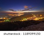 panoramic view on kotor bay ... | Shutterstock . vector #1189399150