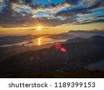 panoramic view on kotor bay ... | Shutterstock . vector #1189399153