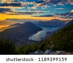 panoramic view on kotor bay ... | Shutterstock . vector #1189399159