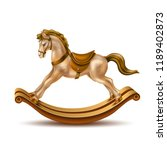 rocking horse realistic vintage ... | Shutterstock .eps vector #1189402873