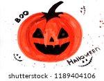 pumpkin. background. halloween. ...   Shutterstock . vector #1189404106