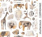 tropical seamless pattern....   Shutterstock . vector #1189404460