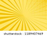 pop art yellow background ... | Shutterstock .eps vector #1189407469