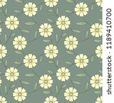 flower seamless pattern with... | Shutterstock .eps vector #1189410700