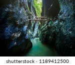 river in a wild gorge. cheile... | Shutterstock . vector #1189412500