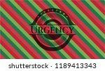 urgency christmas emblem... | Shutterstock .eps vector #1189413343