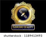 gold shiny emblem with... | Shutterstock .eps vector #1189413493