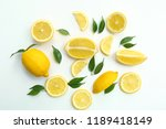 flat lay composition with ripe... | Shutterstock . vector #1189418149
