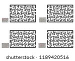 set of labyrinths  mazes... | Shutterstock .eps vector #1189420516