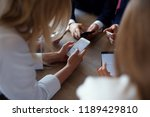 business team working together... | Shutterstock . vector #1189429810