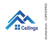 the logo of the ceilings  floors | Shutterstock .eps vector #1189429903