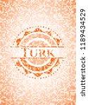 turk orange tile background... | Shutterstock .eps vector #1189434529