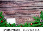 christmas composition.... | Shutterstock . vector #1189436416