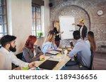 business colleagues in... | Shutterstock . vector #1189436656