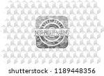non profit making grey emblem... | Shutterstock .eps vector #1189448356