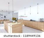 3d rendering of modern kitchen... | Shutterstock . vector #1189449136