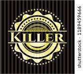 killer gold emblem or badge | Shutterstock .eps vector #1189459666