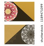 templates card with mandala... | Shutterstock .eps vector #1189471099